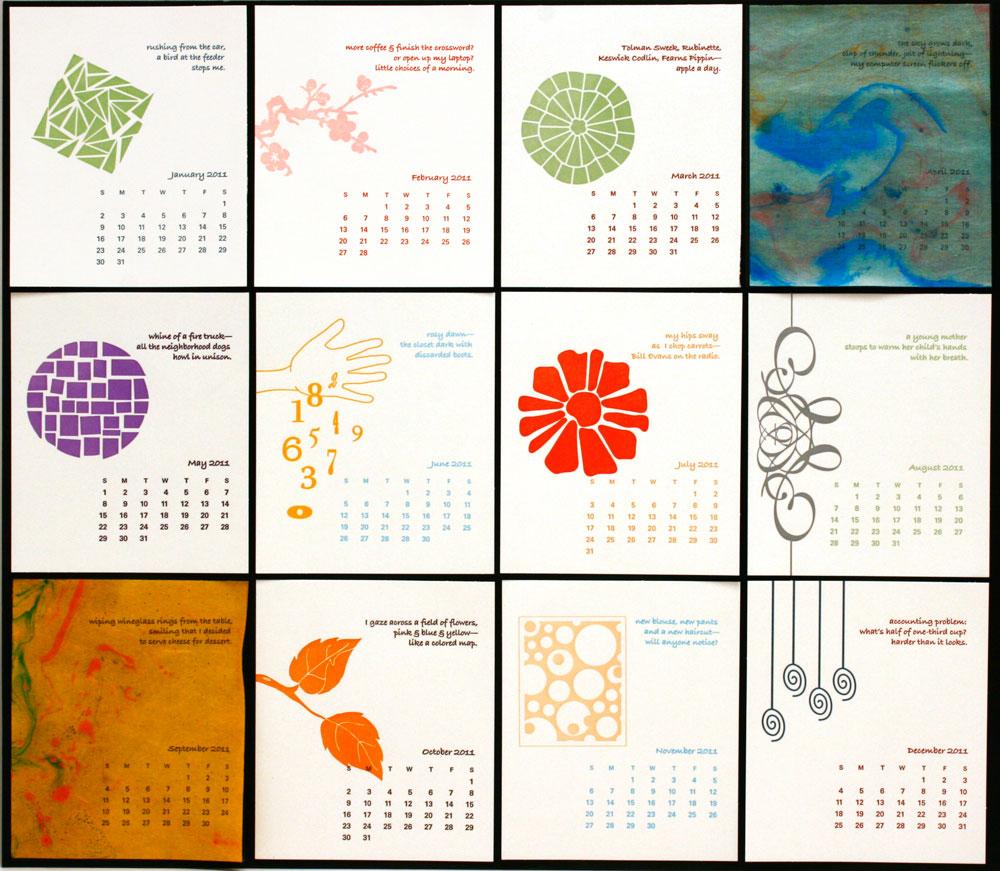 Japanese Calendar Design : Calendars green chair press